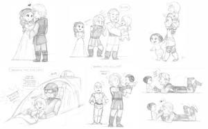 SW Sketch - Skywalker Family by KatyTorres