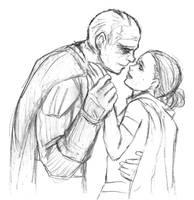 Star Wars sketch - Vader and Padme by KatyTorres