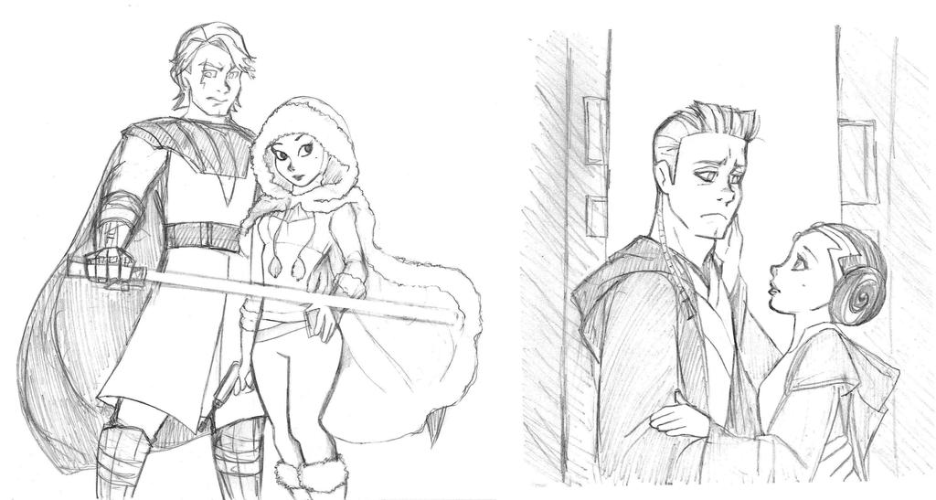 Clone Wars Micro Serie Sketch By