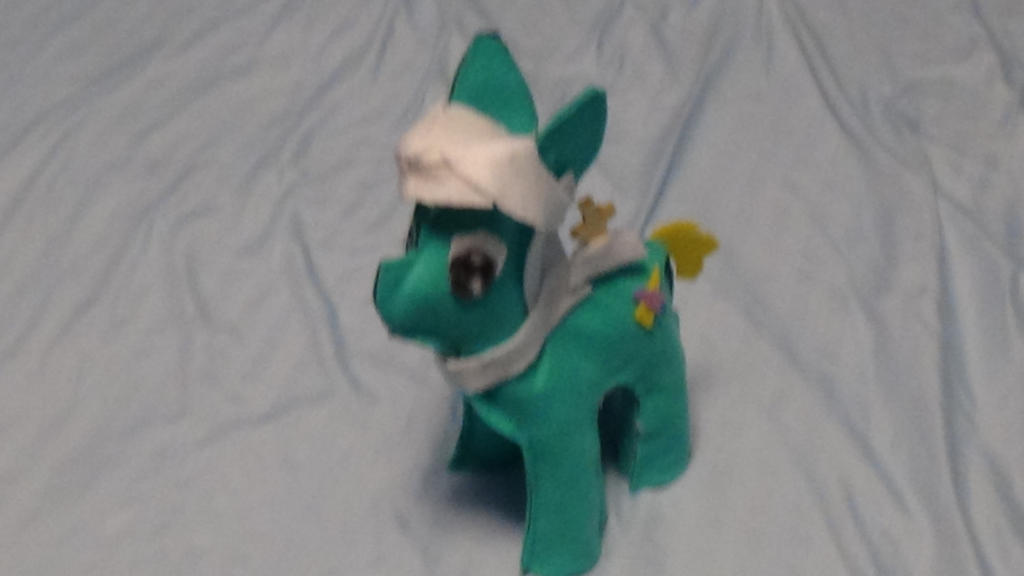 Plushie for Finn the pony by Twilyx360