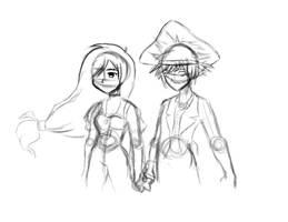 Sora and Garnet WIP
