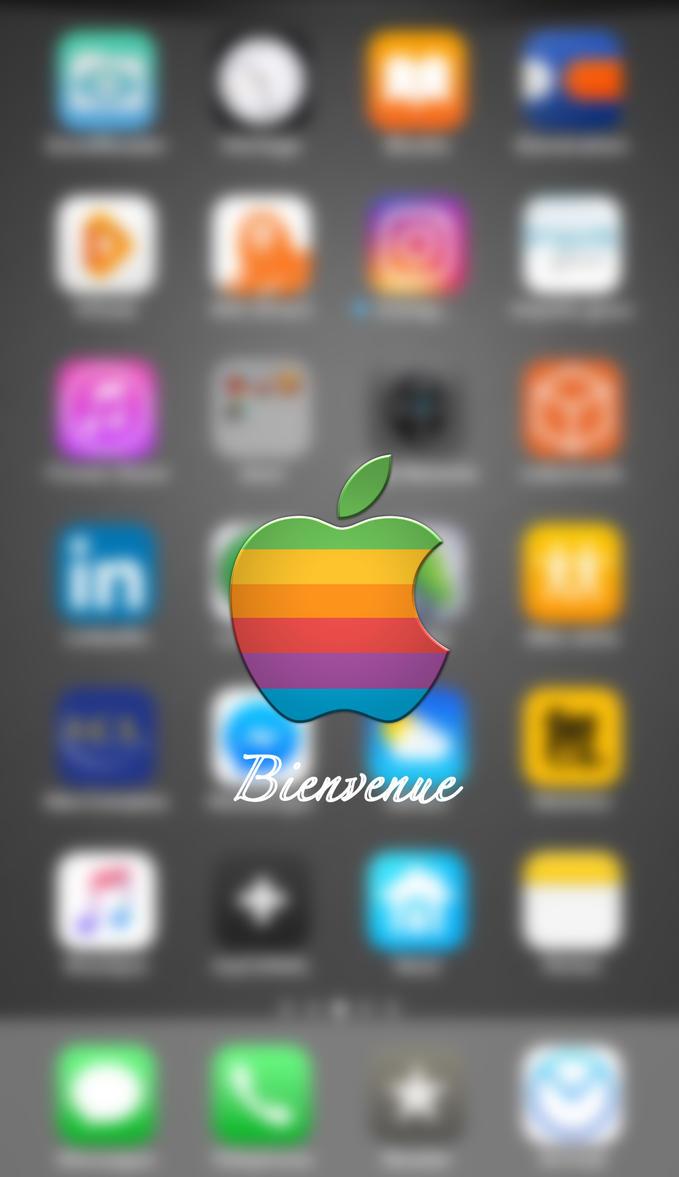 Iphone 6S+ lockscreen by Christophe31