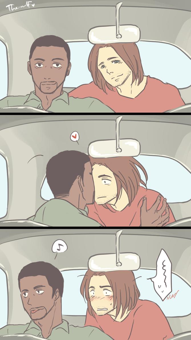 SamBuck: In the car by wolf-zaa