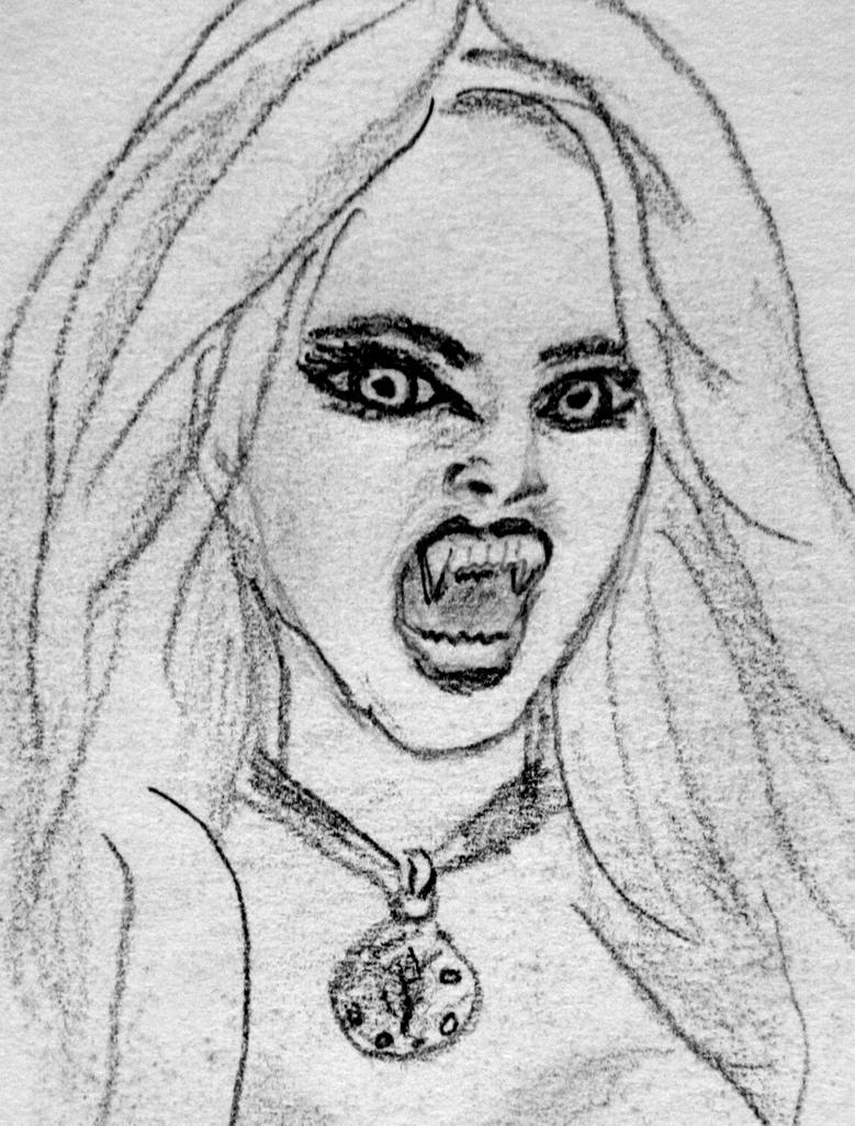 рисунки вампиров карандашом фото