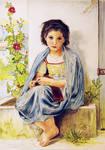 The Little Knitter - Bouguereau by PMucks
