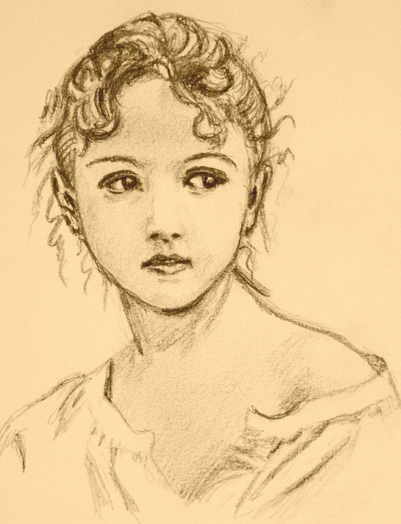 Vintage Bouguereau Girl by PMucks