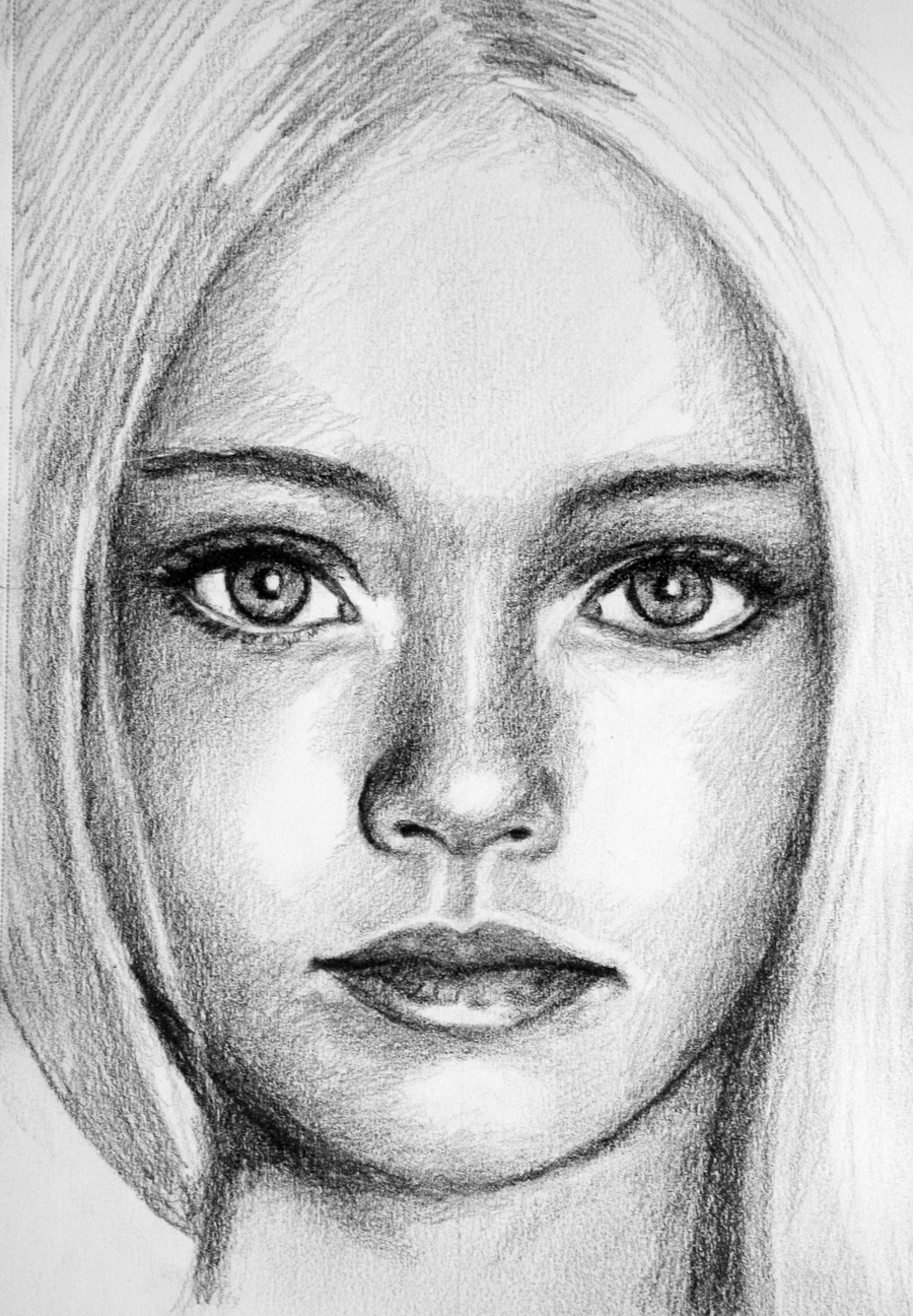 Pretty girl sketch by pmucks on deviantart for Pretty sketches