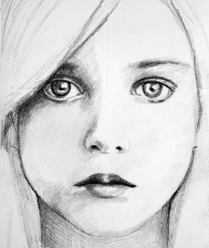 Angelic Girl Sketch by PMucks on DeviantArt