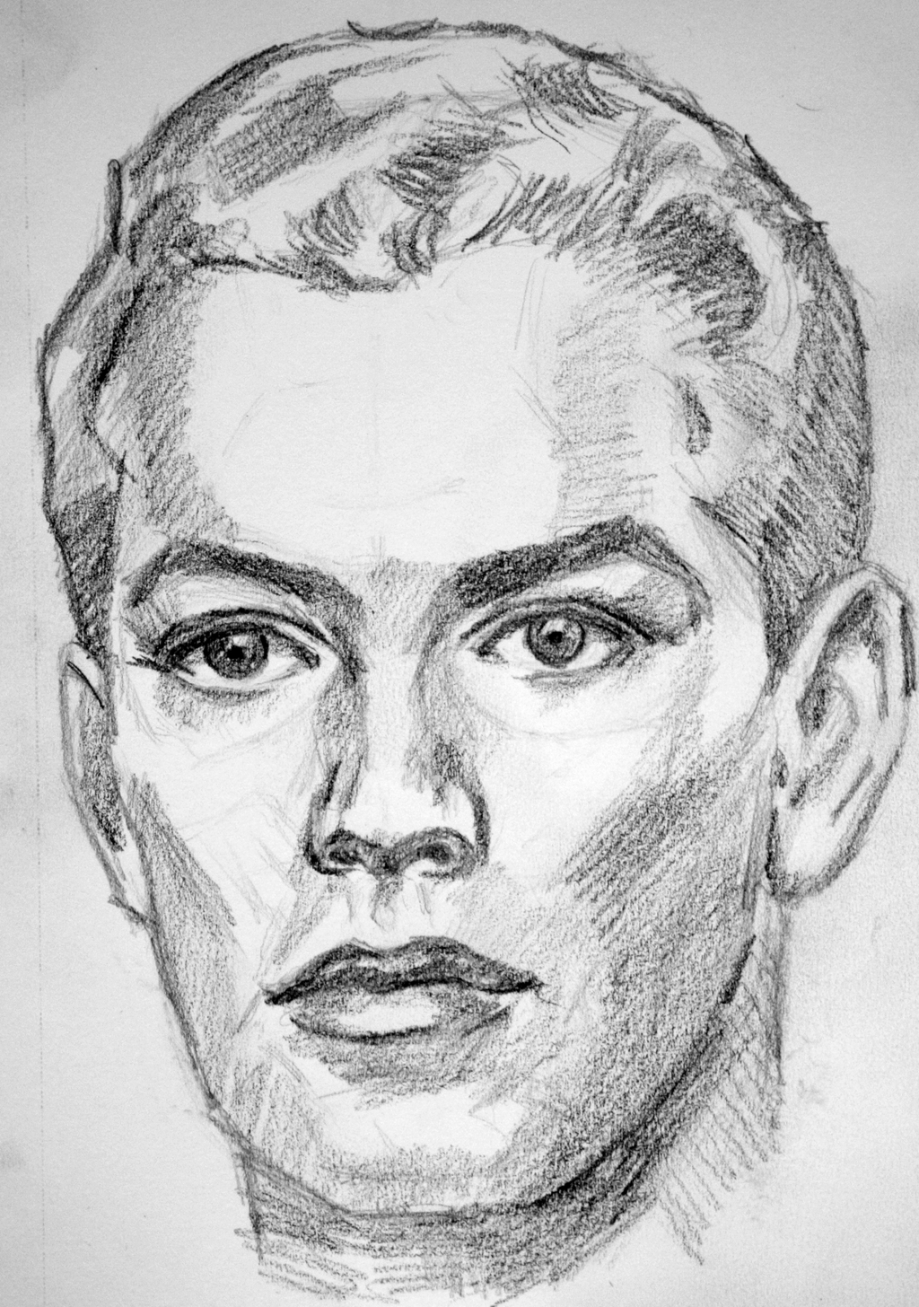 sketch male face by pmucks traditional art drawings portraits
