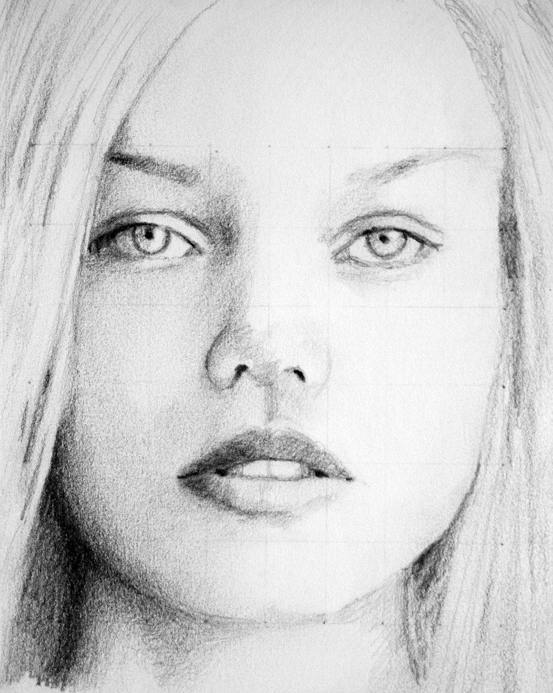 Sketch - Female Face by PMucks on DeviantArt