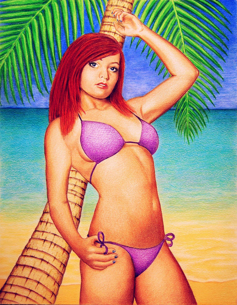 Katie at the Beach by PMucks
