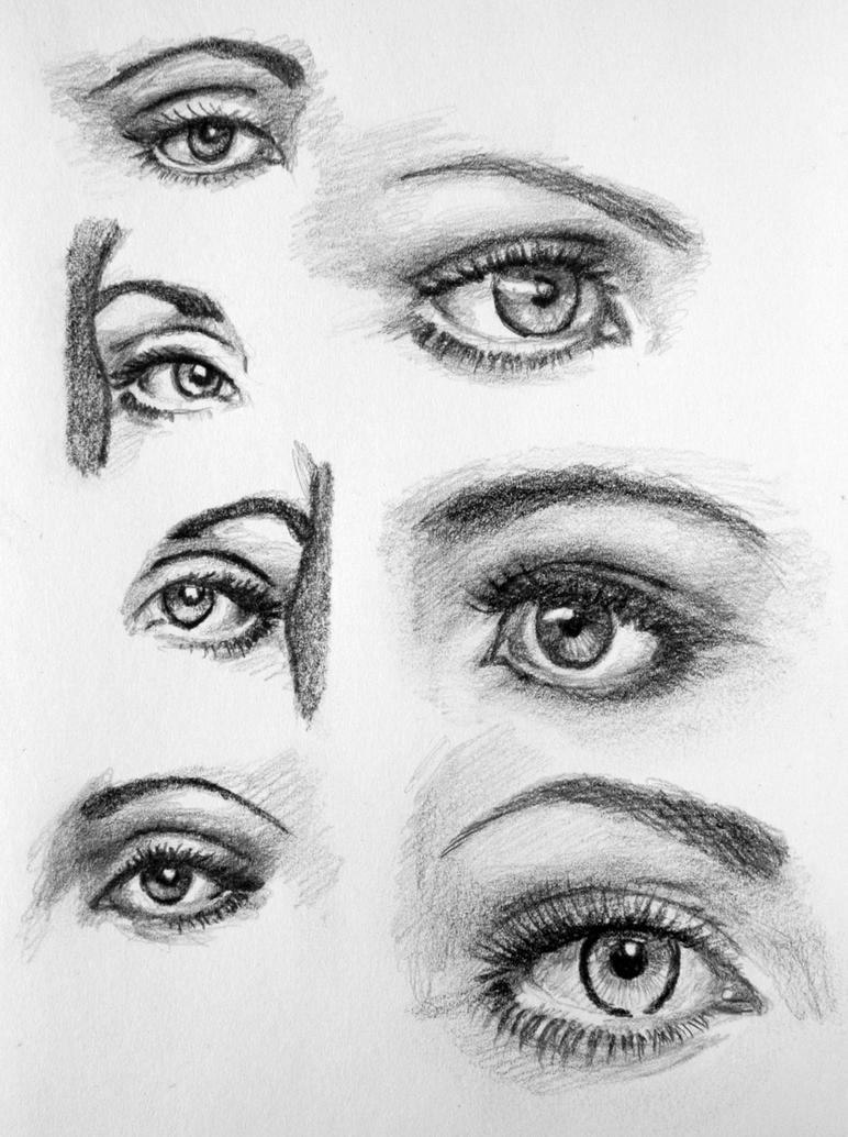 Eye practice by pmucks on deviantart for Things to practice drawing