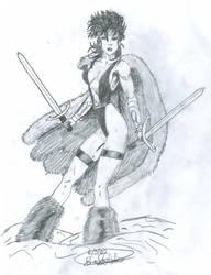Snow Warrior by rabidbribri