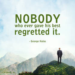 Quote - Nobody Who Gives Best Regrets It by rabidbribri