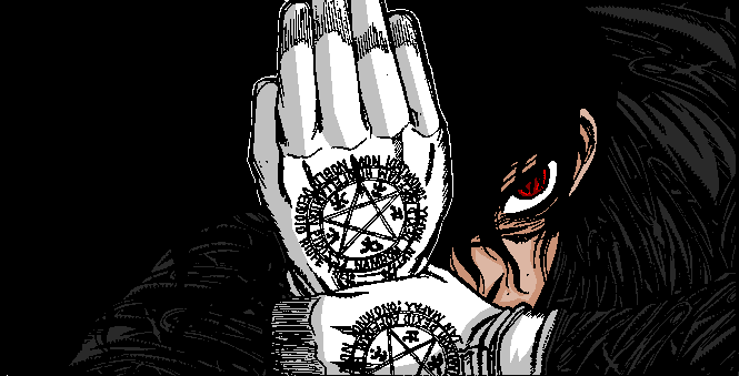 manga colour of alucard by ladydragonsghost