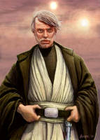 Old Luke Skywalker Jedi Master Episode VII by HalHefnerART