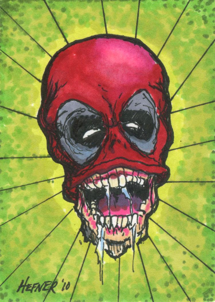 Headpool sketch card by halhefnerart on deviantart for Headpool