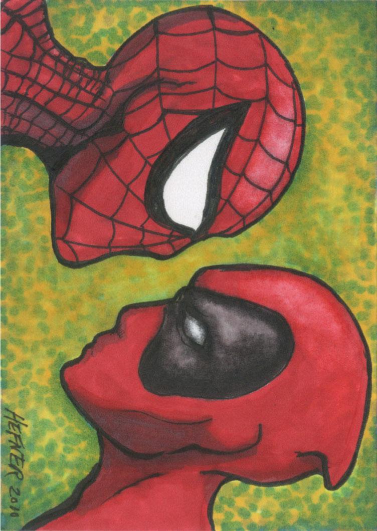 Deadpool vs. Spiderman by HalHefnerART