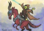 Yoda Leading the Clones
