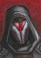 Darth Revan Sketch card by HalHefnerART