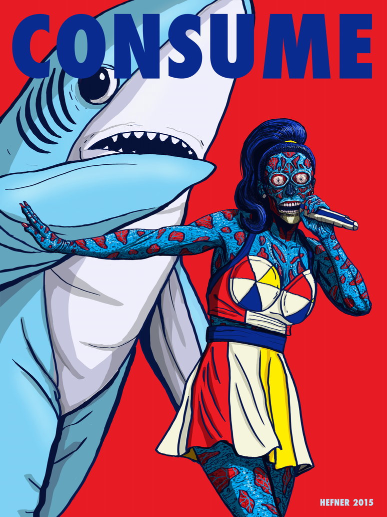 Katy-Perry-Consume--They-Live by HalHefnerART