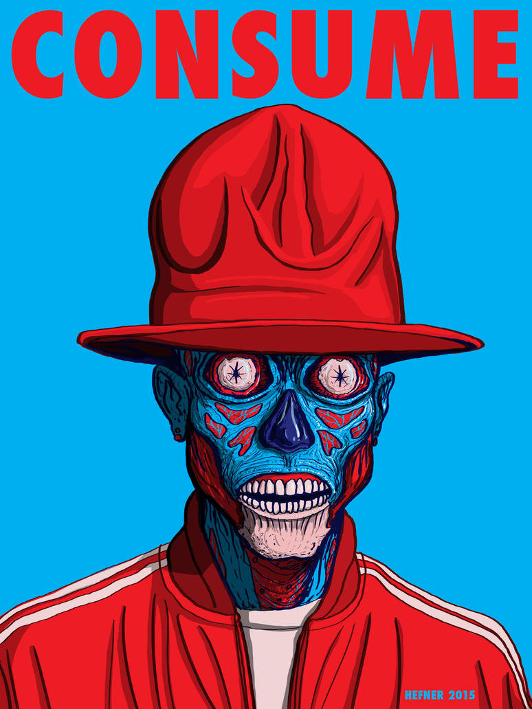 The REAL Pharrell  - THEY LIVE - COSNUME by HalHefnerART