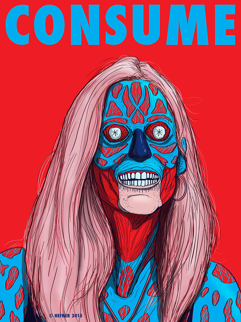 ANN COULTER - CONSUME by HalHefnerART