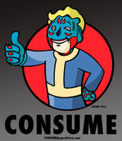Vault Boy from FALLOUT - CONSUME by HalHefnerART