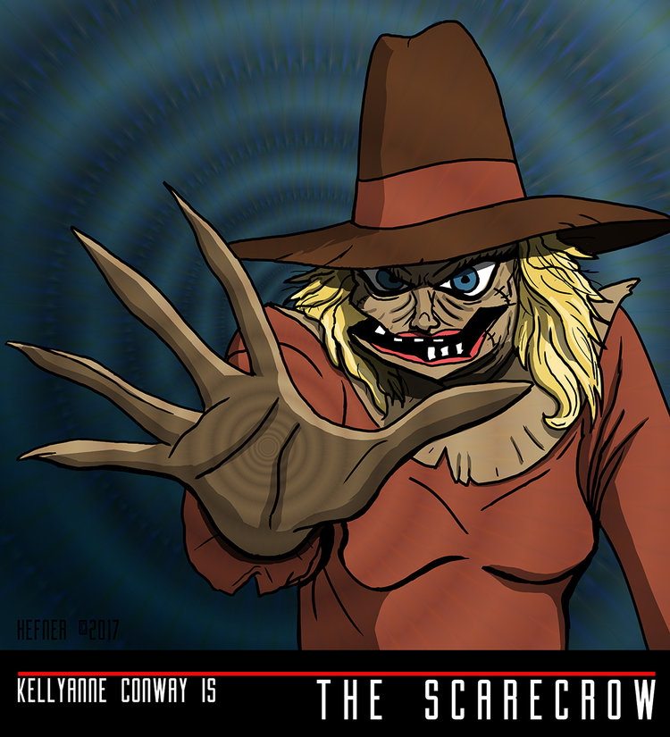 KELLYANNE CONWAY is THE SCARECROW by Hal Hefner by HalHefnerART