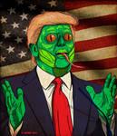 Donald Trump CONSUME REPTILIAN HAL HEFNER