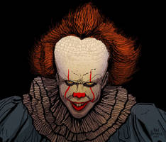 Pennywise from Stephen King's  IT by HalHefnerART