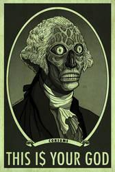 THEY LIVE HAL HEFNER  George Washington CONSUME by HalHefnerART