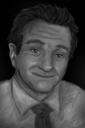 Robin WIlliams by RedHeadWolf