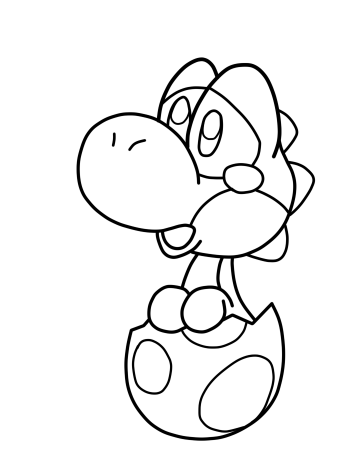 Sad baby yoshi by anthonyc86 on deviantart for Coloring pages yoshi