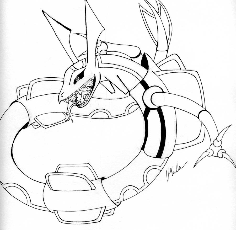 Rayquaza by chilledskie on deviantart for Rayquaza coloring pages