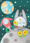 Flowers on the moon