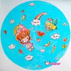 Cupcakegirls flyingthesky bycukismo-DianaCR by Cukismo