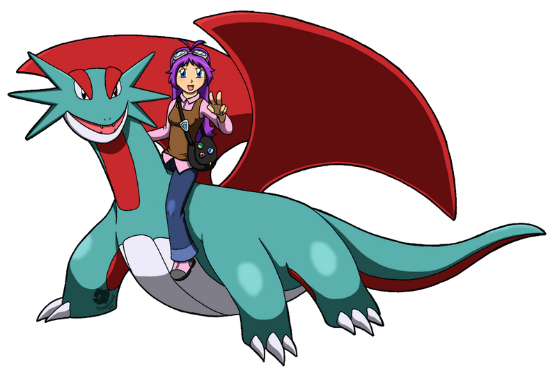 Julie the Salamence trainer by Sinatzeek on DeviantArt