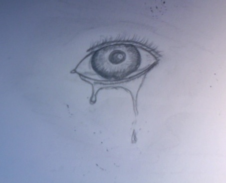 Crying eye sketch by blacksoulhero