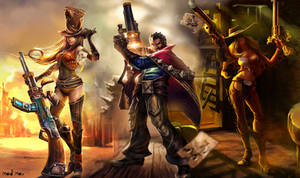 League of Legends : The Gunslingers by Mad--Max