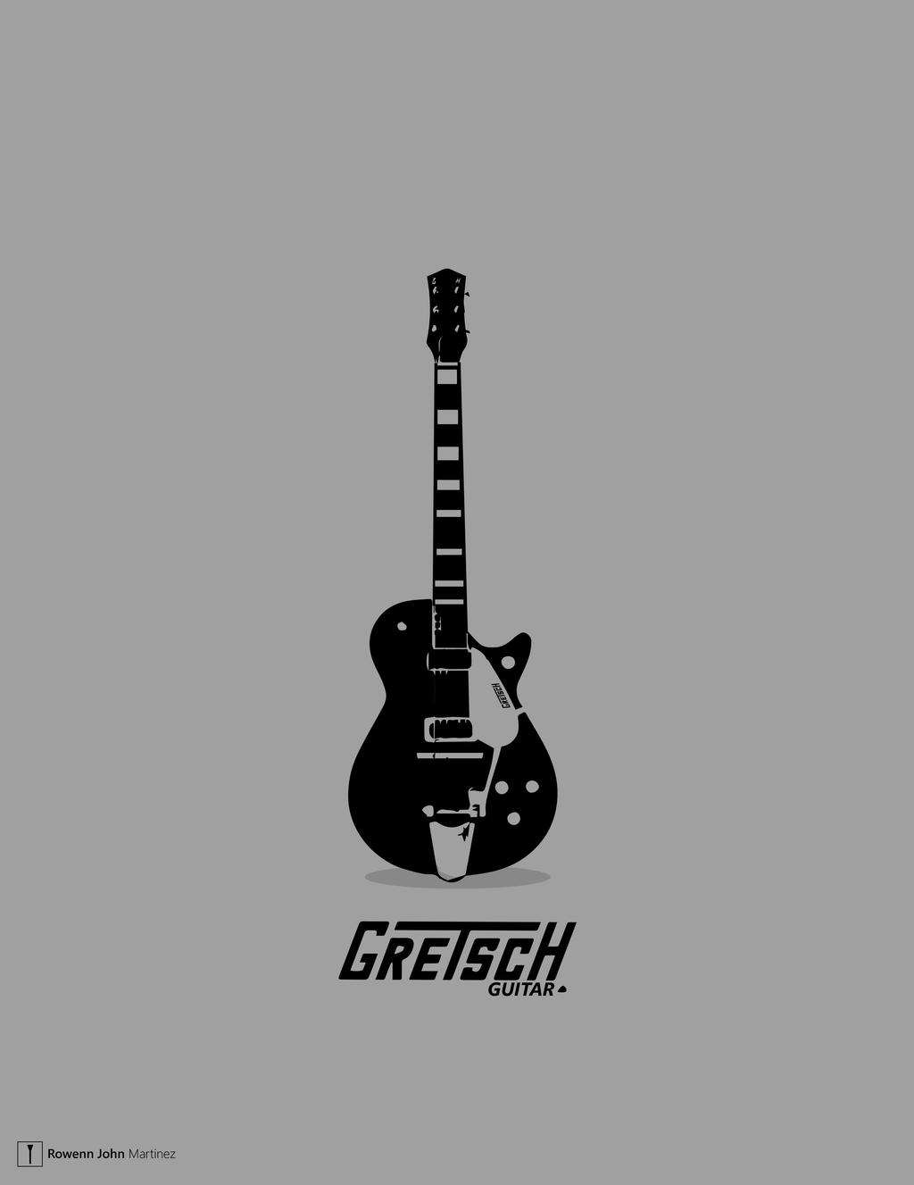Black Gretsch Guitar 1960s By RowennJohn