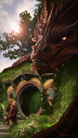 Smaug at Bag End by Ligers-mane