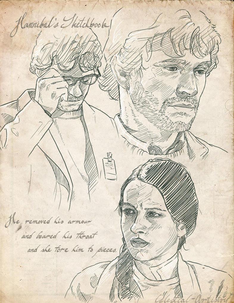 Hannibal's Sketchbook 012 by Ligers-mane