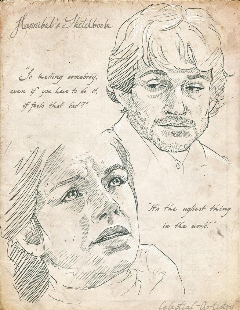 Hannibal's Sketchbook 013 by Ligers-mane