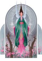 Faerie Goddess of spring by elorhir