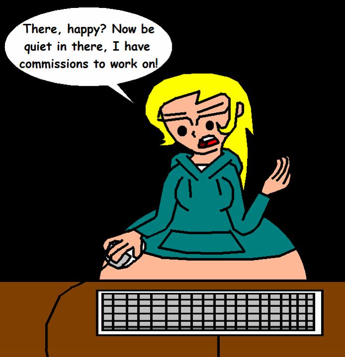 Please let me work in peace by GirlsVoreBoys