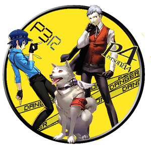 Persona 4 akihiko naoto and pet by watercan52