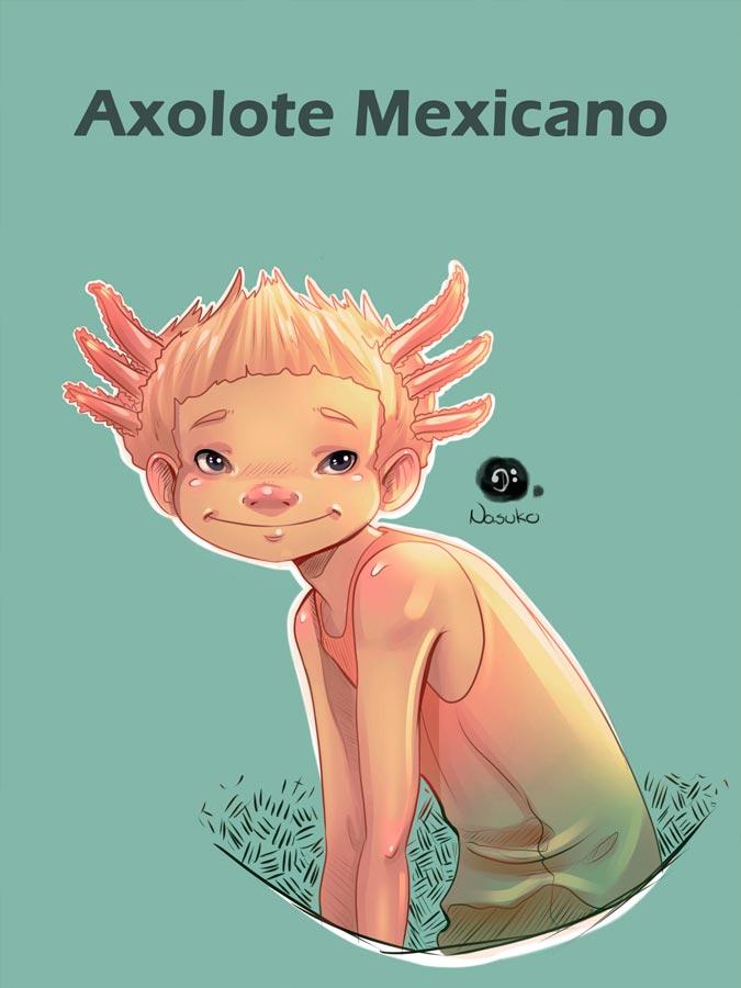 Axolote mexicano by Nasuko