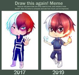 Draw this again: Shoto Chibi