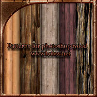 Patterns for photoshop wood by bobs66